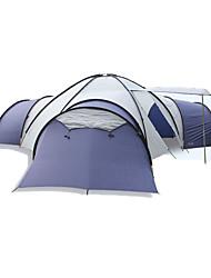 Недорогие -8 человек  на открытом воздухе Световой тент Влагонепроницаемый Хорошая вентиляция Воздухопроницаемость Крупногабаритные Трехкомнатная Палатка  для Охота Пешеходный туризм Походы
