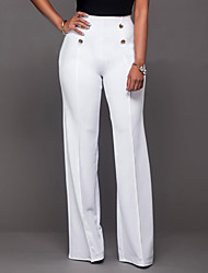 Women's High Rise Micro-elastic Chinos Pants,Vintage Simple Bootcut Solid