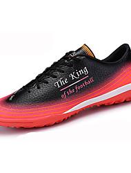 baratos -Para Meninos Sapatos Couro Ecológico Outono Conforto / botas de desleixo Tênis Futebol Cadarço para Preto / Vermelho / Verde e Azul /