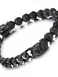 Men's Chain Bracelet Vintage Punk Stainless Steel Skull / Skeleton Jewelry For Party Daily Casual