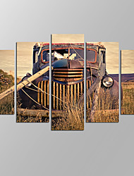 VISUAL STAR®Vintage Old Car Giclee Artwork Home Wall Decoration Framed Canvas Print Ready to Hang