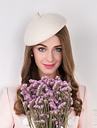 cheap -Wool Feather Fabric Hats 1 Wedding Special Occasion Casual Headpiece