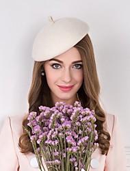 Недорогие -шерстяные перья ткани шляпы головной убор элегантный классический женский стиль