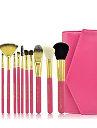 12 Makeup Brushes Set Goat Hair / Pony / Nylon / Synthetic Hair Portable Wood Face / Eye / Lip Others