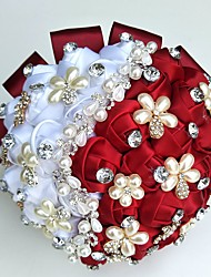 "cheap -Wedding Flowers Bouquets Unique Wedding Décor Special Occasion Party / Evening Bead Rhinestone Silk Satin 19.7""(Approx.50cm)"