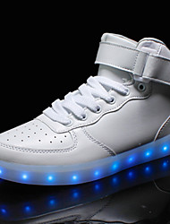 cheap -Unisex Shoes PU(Polyurethane) Spring / Fall Comfort / Novelty / Light Up Shoes Sneakers Flat Heel Round Toe Lace-up / Hook & Loop / LED