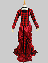 Gothic Lolita Dress Victorian Women's Outfits Cosplay Long Sleeves Asymmetrical