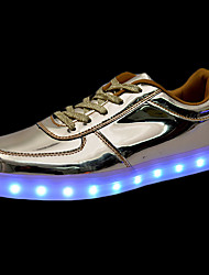 Men's Shoes PU Fall Winter Comfort Light Up Shoes Sneakers Lace-up LED For Casual Gold Sliver