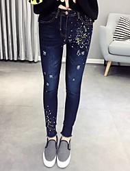 baratos -Mulheres Moda de Rua Delgado Jeans Calças - Poá