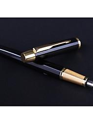 abordables -Bolígrafo Bolígrafo Plumas estilográficas Bolígrafo,Metal Negro colores de tinta For Suministros de la escuela Material de oficina