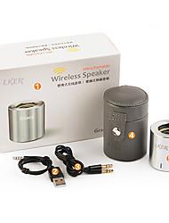 Lker Grace Mini Aluminum Bluetooth 3.0 Speaker Portable Mobile Car Stereo Subwoofer Multi-Colored Options