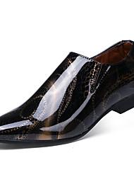 メンズ 靴 レザー 春 秋 コンフォートシューズ スニーカー アップリケ 用途 カジュアル ゴールド ホワイト ブラック パープル ブルー