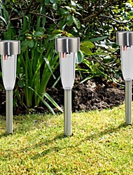 cheap -8PCS Stainless Steel Solar Pathway Walkway Lights Lawn lamp