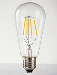 E26/E27 LED Globe Bulbs ST64 4 leds High Power LED Decorative Warm White 140-280lm 2300-300K AC 220-240V