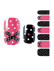cheap -YeManNvYou®14PCS Fashion Bowknot&Spot Nail Art Glitter Sticker B1030