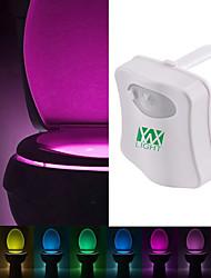 Недорогие -ywxlight® 8 цветной унитаз свет водить туалет свет человеческий датчик движения свет туалет туалет ночной свет пир автоматический активирован