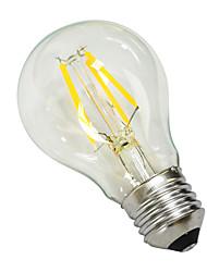 Недорогие -e27 4w 380lm 5500-6000k привело вольфрамовый сердечник белый свет земной шар лампы (AC 220 -240v)