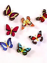 preiswerte -1pc führte Licht Nacht Atmosphäre Lampe mit bunten wechselnden Schmetterling Innenbeleuchtung mit Saugnapf Home Party Schreibtisch Wanddekoration