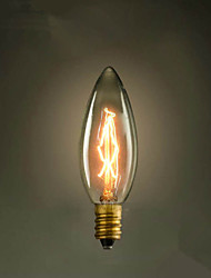 E14 25W C35 Burning Tip Of The Yellow Light 220V Edison Light Bulb Small Lo Lo Retro Retro Light Source
