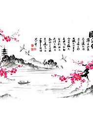 květiny Samolepky na zeď Samolepky na stěnu Ozdobné samolepky na zeď,Papír Materiál Home dekorace Lepicí obraz na stěnu