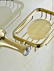 cheap -Soap Dishes & Holders High Quality Contemporary Brass Crystal 1 pc - Hotel bath