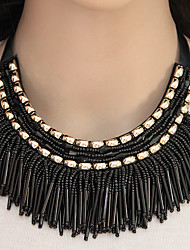 cheap -Women's Collar Necklace Statement Necklace - Tassel Fashion European Gold Black Gray Blue Rainbow Necklace For Party