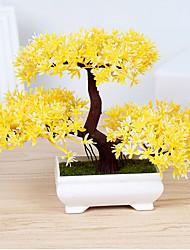 preiswerte -1pc 1 Ast Polyester / Kunststoff Pflanzen Tisch-Blumen Künstliche Blumen 7*10.6inch/18*27CM