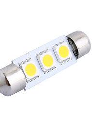 cheap -39mm 0.6W 50LM 3000K 3x5050 SMD Warm White LED for Car Reading/License Plate/Door Lamp (DC12V, 1Pcs)