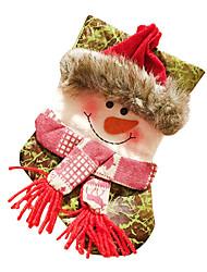 abordables -Decoración Decoraciones Navideñas Bolsas de regalo Juguetes Calcetines Disfraces de Santa Elk Monigote de nieve Piezas Navidad Regalo