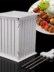BBQ Grill 36 Hole Skewers Food Slicer Brochette Grill Kebab Maker Box Kit Tool