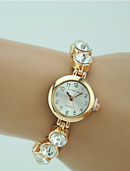 cheap -Women's Fashion Watch Bracelet Watch Quartz Rhinestone Imitation Diamond Alloy Band Charm Elegant Gold