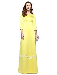economico -Linea-A Con decorazione gioiello Lungo Chiffon Festa di fine anno scolastico Serata formale Vestito con Perline A pieghe di TS Couture®