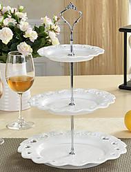 Недорогие -1 шт. 3-х слойный пластиковый торт и кухонный шкаф для хранения фруктовых столов для вечеринки