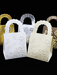 25pcs/lots Handbag Wedding Favors Box Chocolate box Butterfly and Flower Candy Box Gift Box Wedding Party Decoration