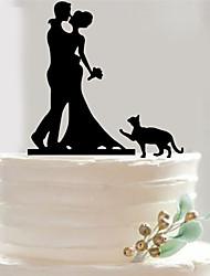 baratos -Aniversário / Dia Dos Namorados / Festa de Casamento Acrílico Mistura de Material Decorações do casamento Tema Clássico Inverno Primavera