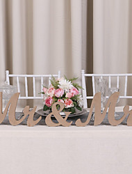 cheap -Wooden MR & MRS wedding items Wood DIY letter furnishing articles Wedding supplies