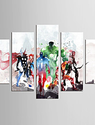 Famous Cartoon Classic European Style,Five Panels Canvas Any Shape Print Wall Decor For Home Decoration