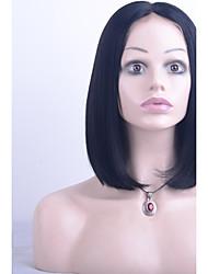 cheap -10 20 inch peruvian virgin hair bob wig straight hair natural black color 100 virgin human hair lace front wig for black woman