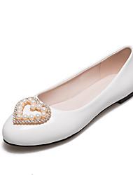 economico -Da donna Ballerine Primavera Estate Autunno Vernice Casual Serata e festa Con diamantini Perline Piatto Basso Argento Rosso Blu Rosa