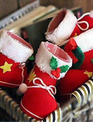 2pcs natal botas decorações de chocolate 9 * 6 * 10cm