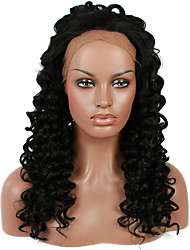 cheap -Synthetic Lace Front Wig Kinky Curly Synthetic Hair Natural Hairline Black Wig Women's Lace Front Wig