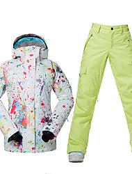 baratos -Roupa de Esqui Jaquetas de Esqui/Snowboard Mulheres Roupa de Inverno Poliéster Vestuário de InvernoProva-de-Água Térmico/Quente A Prova