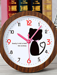 cheap -Creative Lovely Cat Clock Desk Clock Desk Alarm Clock Table Clock Creative Home Decorative Fashion Mute Watches