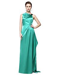 economico -A tubino Monospalla Lungo Raso elasticizzato Stile VIP Serata formale Vestito con A pieghe di TS Couture®