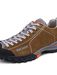 cheap -Men's Sneakers / Hiking Shoes / Mountaineer Shoes Rubber Hiking / Climbing / Backcountry Waterproof, Anti-Slip, Anti-Shake / Damping Rubber / Nubuck leather / Leather Light Brown