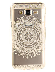 cheap -For Samsung Galaxy J5 J5(2016) J3 J3(2016) G530 Case Cover Mandala Flowers Pattern IMD Process Painted TPU Material Phone Case
