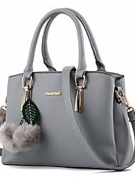 Women Bags All Seasons PU Tote Rivet for Formal Office & Career Gray Purple Fuchsia Wine Dark Red