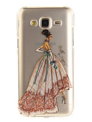 For Samsung Galaxy J5 J5(2016) J3 J3(2016) G530 Case Cover Fashion Girl Pattern IMD Process Painted TPU Material Phone Case