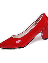 Dámské Podpatky Pohodlné PU Jaro Podzim Ležérní Chůze Pohodlné Kačenka Block Heel Bílá Černá Červená Růžová 5 - 7 cm