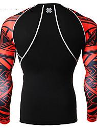 Men's Running T-Shirt Quick Dry Breathable Leggings Bottoms for Exercise & Fitness Running Spandex Tight Black M L XL XXL XXXL